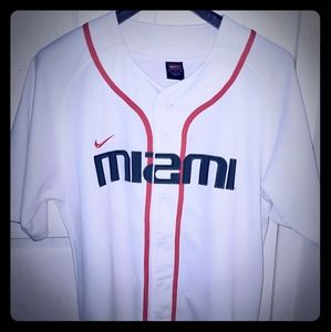 Nike Miami Hurricane Baseball Jersey